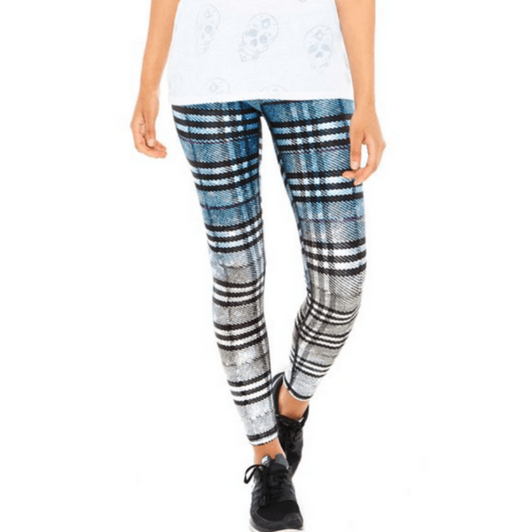 Dip Dye Plaid - Full Length Leggings
