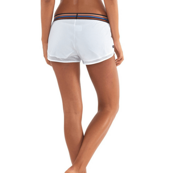 lurv Disco City Crop Shorts in white
