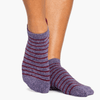 pointe studio donna grip socks navy purple
