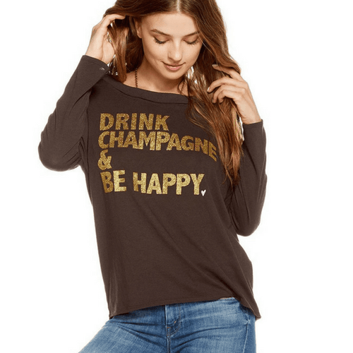 Drink Champagne Be Happy Pullover