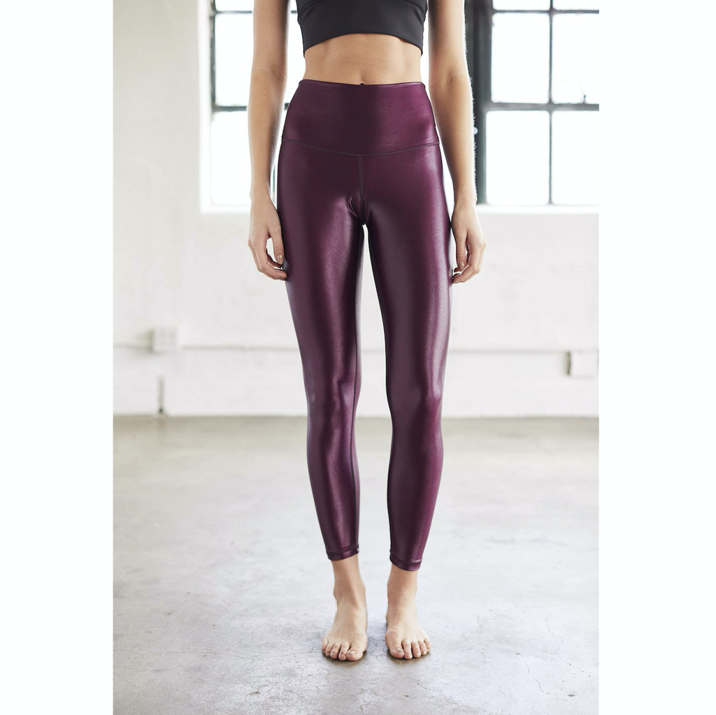 Burgundy High Shine Leggings