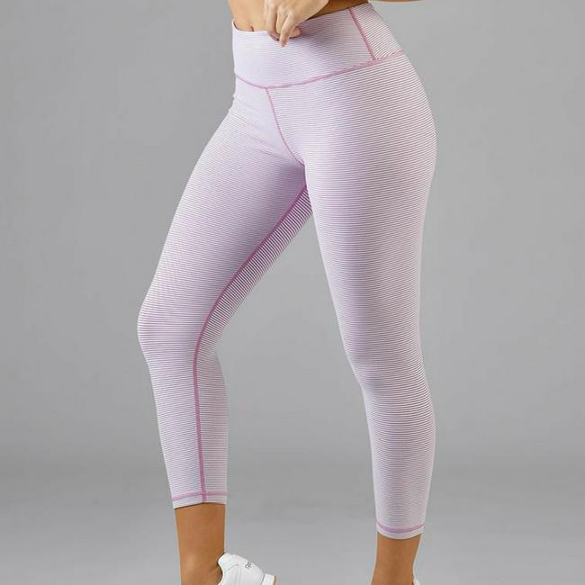 glyder leggings white stripe
