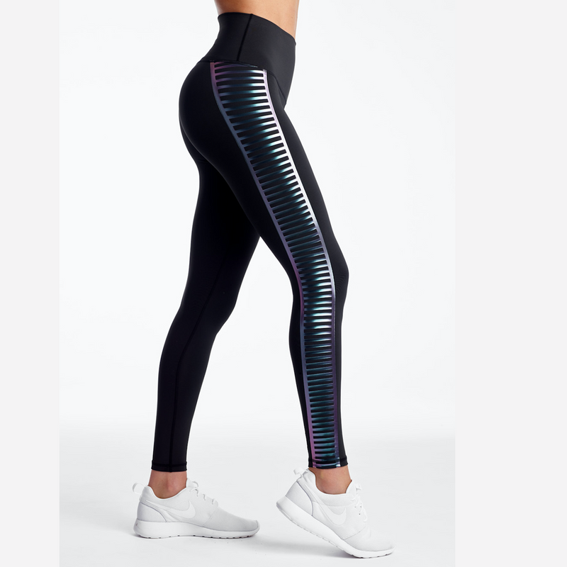 DYI iridescent signature tight black