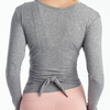 dyi traverse wrap long sleeve tee gray