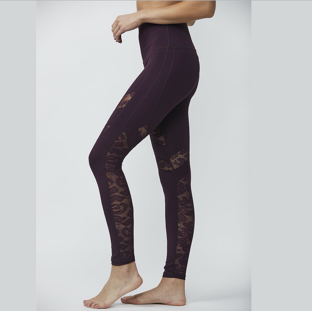 Lace Ready - Burgundy Leggings