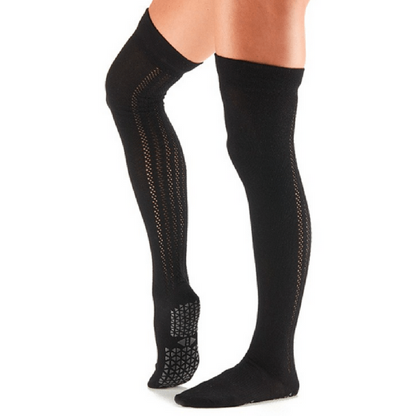 f37c6654b54ce Kris Over the Knee High Grip Socks (Barre/Pilates)