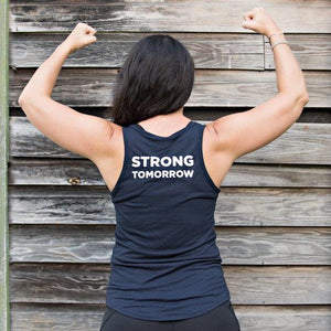Barre Today Strong Tomorrow V-Neck Tank