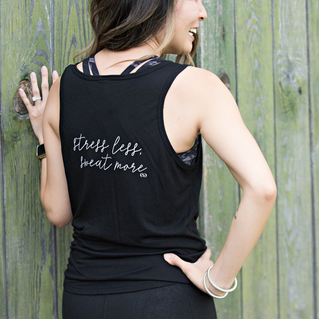 Stress Less Sweat More V-Neck Tank