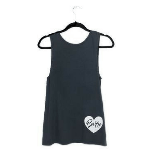 heart barre tank top in gray by EDJE ACTIVE