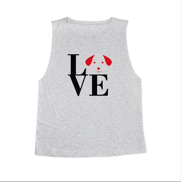 Love My Dog  - Muscle Tank - Gray