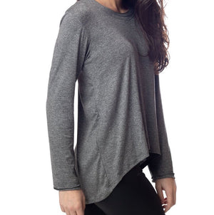 Emily Hsu Sunday Long Sleeve Top In Gray