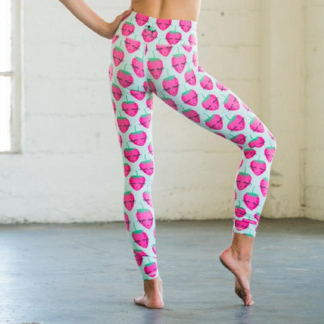 Strawberry Flexi Yoga Pants