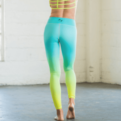 Mint Neon Yellow Ombre Flexi Pants