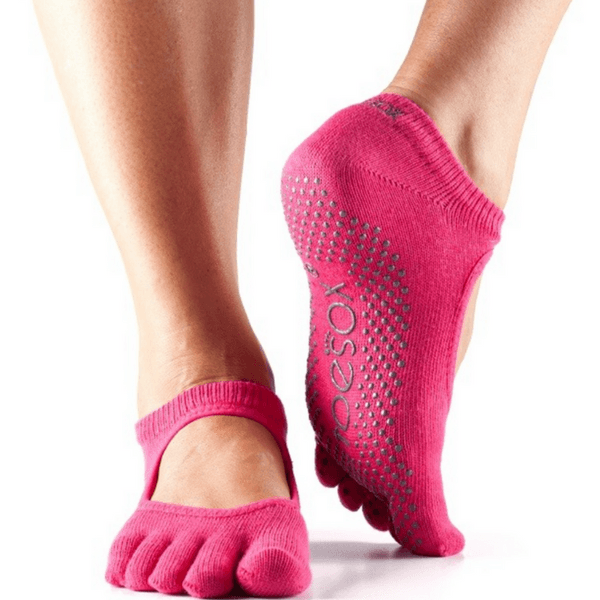 Bella Full Toe - Fuchsia Grip Socks (Barre / Pilates)