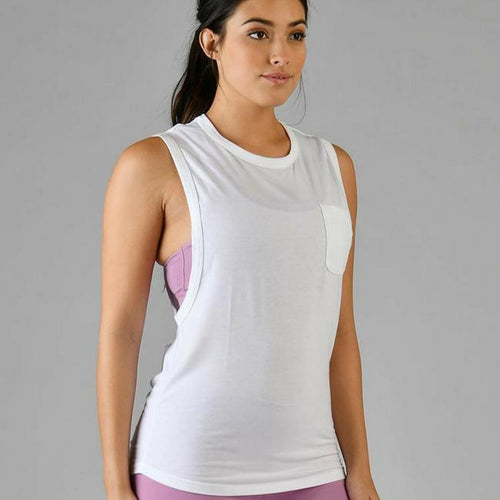glyder tank top white slash tank