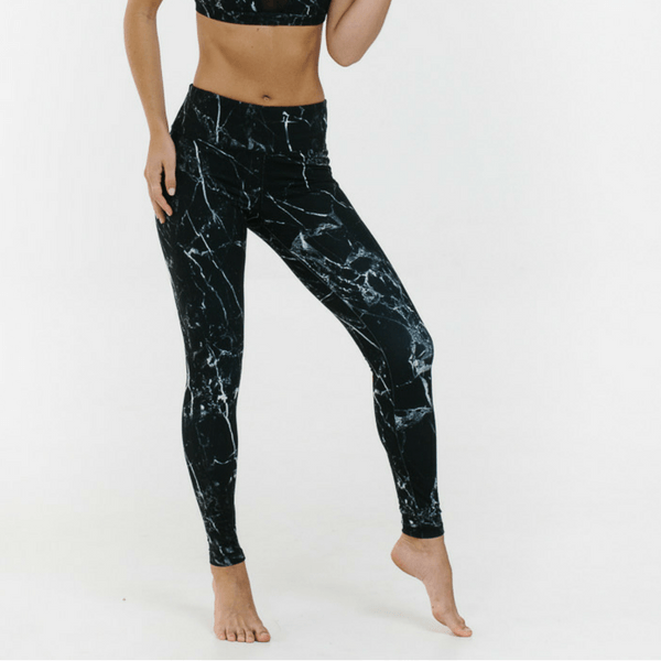 glyder apparel leggings black white onyx