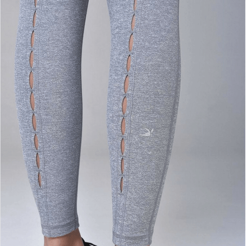 glyder leggings peek a boo in gray