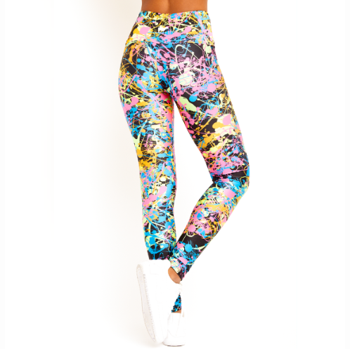 Goldsheep Black Neon Splatter Leggings