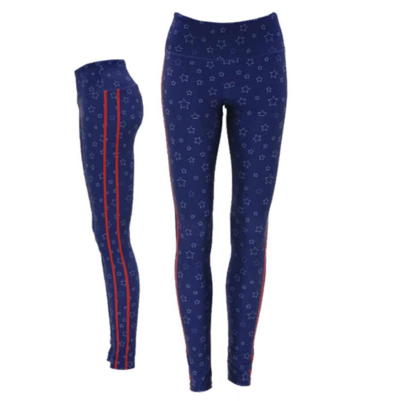 Goldsheep Blue Stars and Stripes Leggings