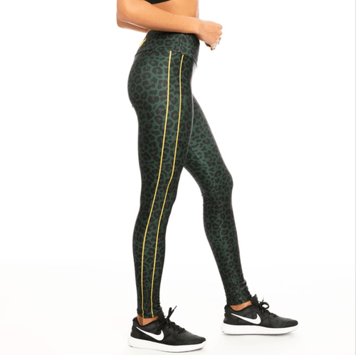 Leopard Green Leggings