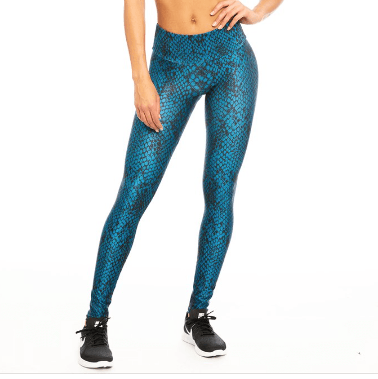 Blue Snake Leggings