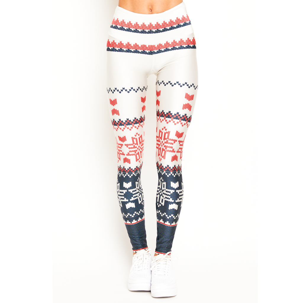 goldsheep fireside flannel holiday leggings