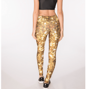 yoga pants goldsheep clothing gold sequins