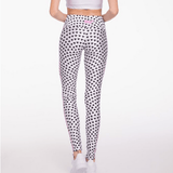 Black and White Heart Leggings goldsheep apparel