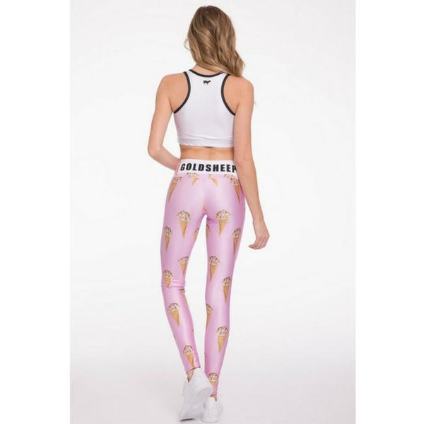 pink ice cream workout leggings by goldsheep