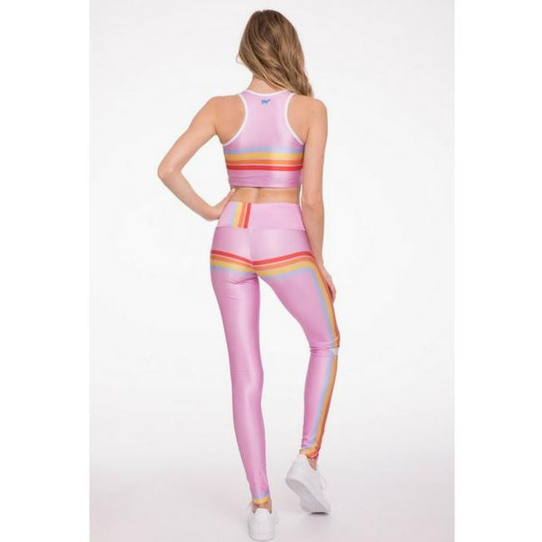 retro cube goldsheep leggings pink