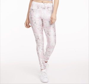 gold sheep rose garden yoga pants