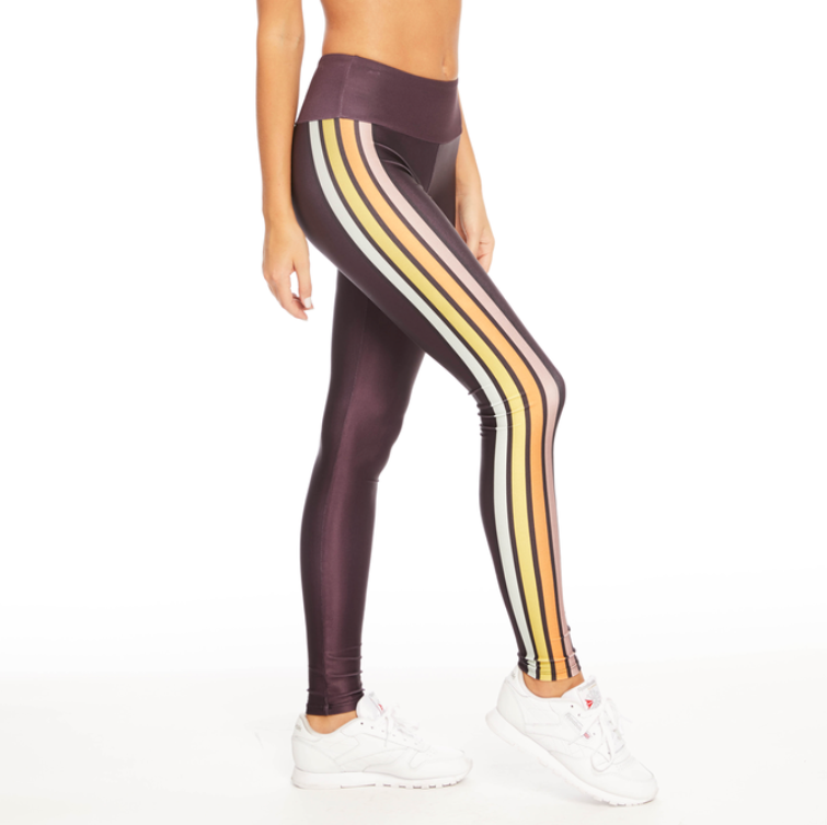 Ski Fever Maroon Leggings