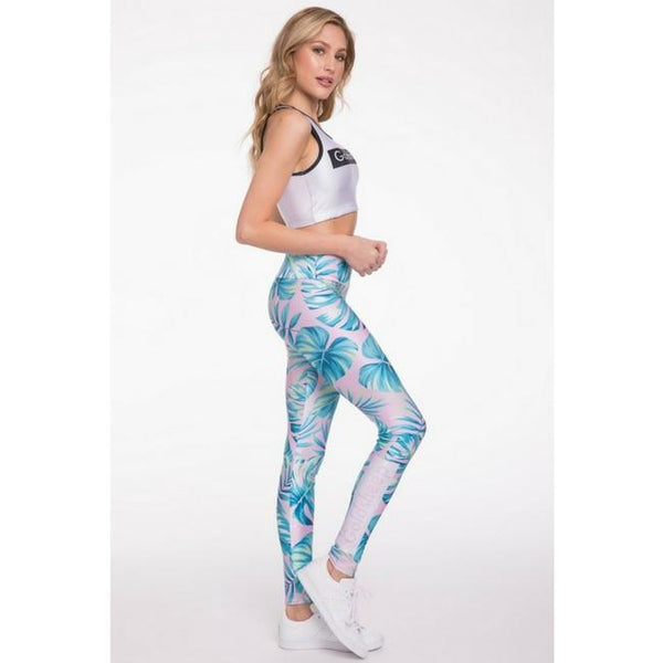 spring tie palms leggings by goldsheep clothing