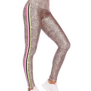 goldsheep neon spot stripes leggings