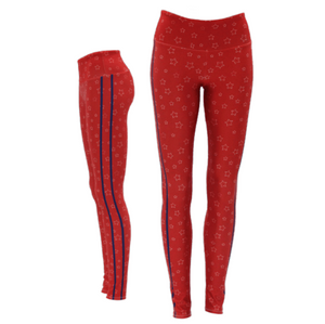 Goldsheep Red Stars and Stripes Leggings