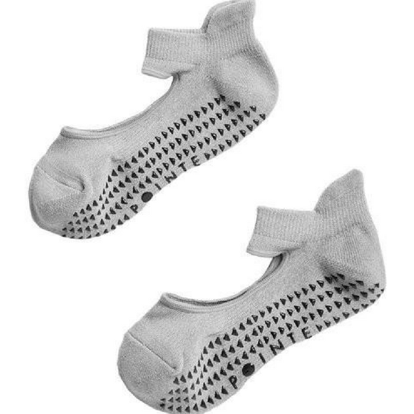 pointe studio Josie Grip Socks  gray