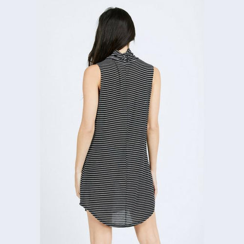 lennox athleisure joah brown black and white dress