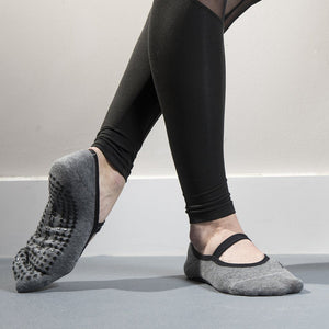 ballet grip socks in heather gray by great soles