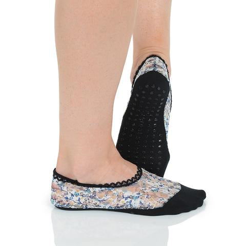 Great Soles Multi Black Lace Grip Sock