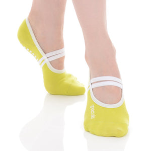 Great Soles Classic Ballet Grip Sock Lime