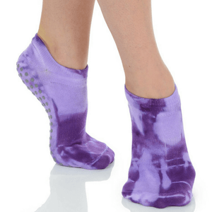 great soles tie dyed grip sock in purple