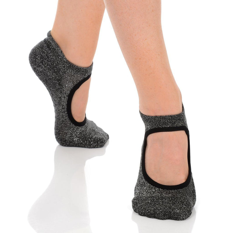 Isabella Gunmetal Grip Sock