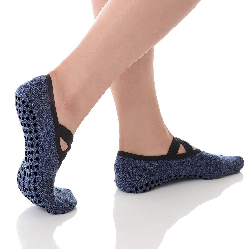 great soles Juliet Double Wrap Grip Sock Denim black