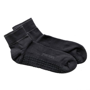 Great Soles Kyle Grip Sock Crew Gray Black
