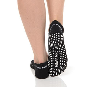 Great Soles Lucy Polka Dot Tab Back Grip Sock