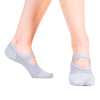 great soles mia mesh gray grip socks