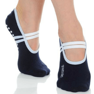 ballet grip socks in navy by great soles