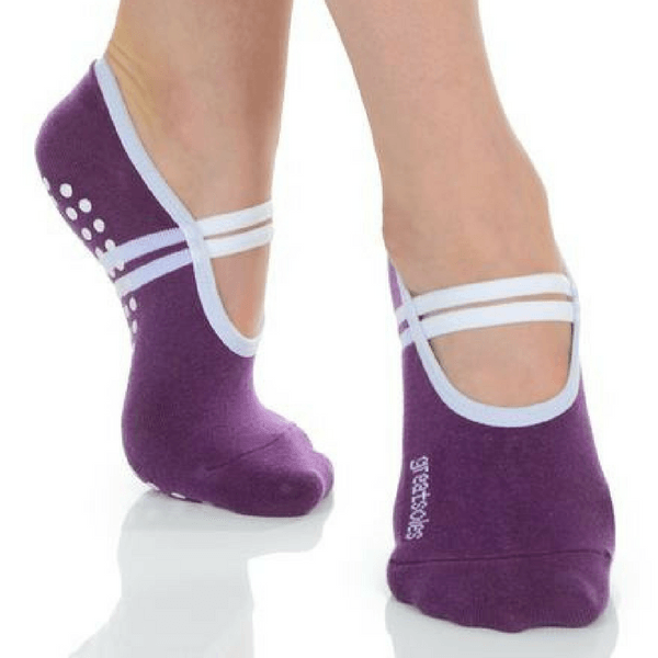 Yoga and Barre White One Size Great Soles Grip Socks for Pilates