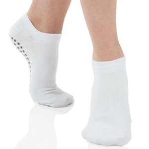 classic sport grip sock in white by great soles