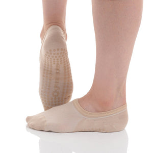 kaia natural grip socks by great soles in nude